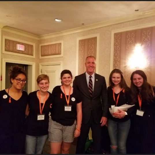 HVSU members meeting Congressman Sean Patrick Maloney