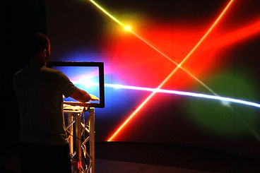 Fête foraine numérique, Le Proyectarium, Harpe Laser