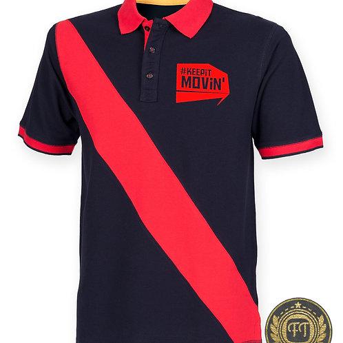 #Keepitmovin' - Diagonal Stripe Cotton Piqué Polo Shirt