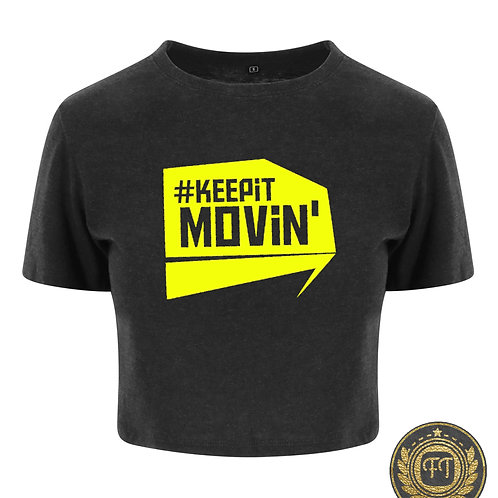 #Keepitmovin' - Tri-Blend Cropped Top