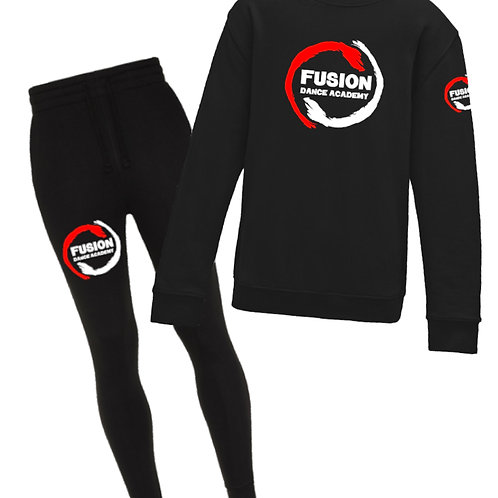 Men's Fusion Black Tracksuit