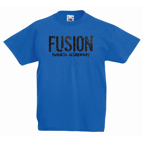 Child's Fusion  Blue T-shirt Glitter Design