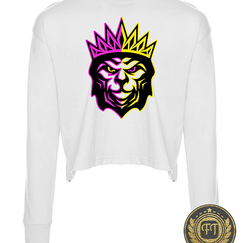 King of the Jungle -  Long Sleeve Cropped T-Shirt