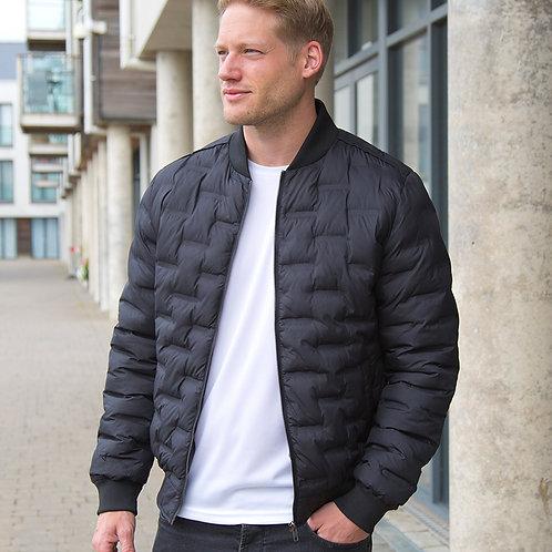 Men's Black Urban Ultrasonic Rib Jacket
