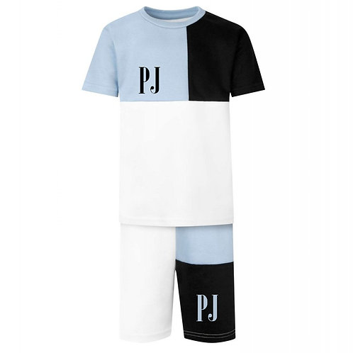 PREORDER Personalised Children's Colour Block T-shirt and Shorts Set