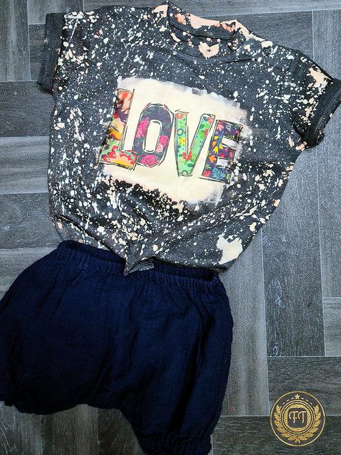 LOVE - Distressed T-Shirt