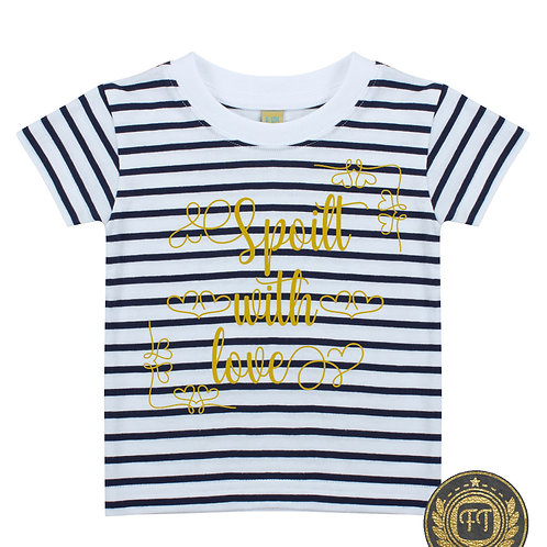 Spoilt with love - Striped Crew Neck T-Shirt