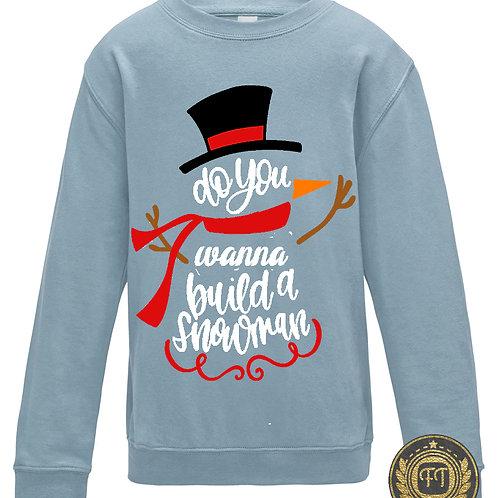 Snowman - Child's Sweater