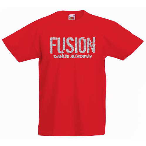 Adults Fusion Red T-shirt Glitter Design