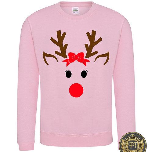 Miss Reindeer - Child's Sweater