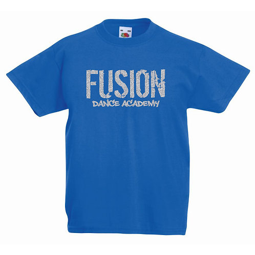 Adults Fusion Royal Blue T-shirt Glitter Design