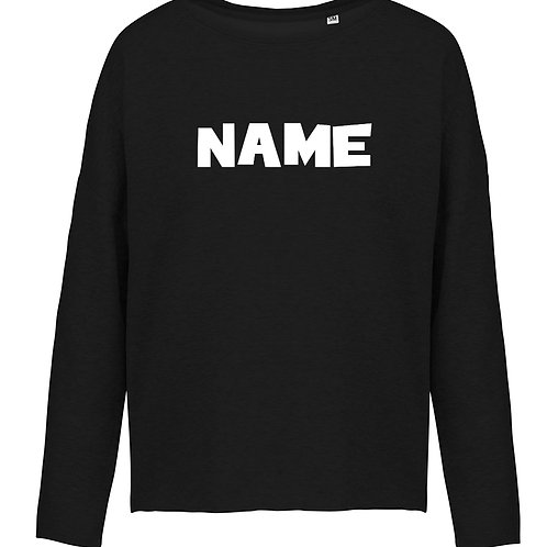 Adult's Fusion Black Oversize Sweater