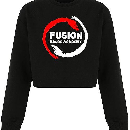 Child's Fusion Black Cropped Sweater