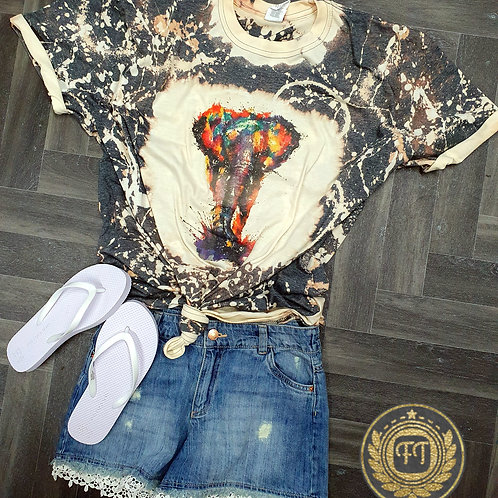Walk with the elephant - Distressed T-Shirt