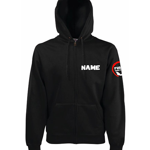 Adult's Fusion Black Zipped Hoodie