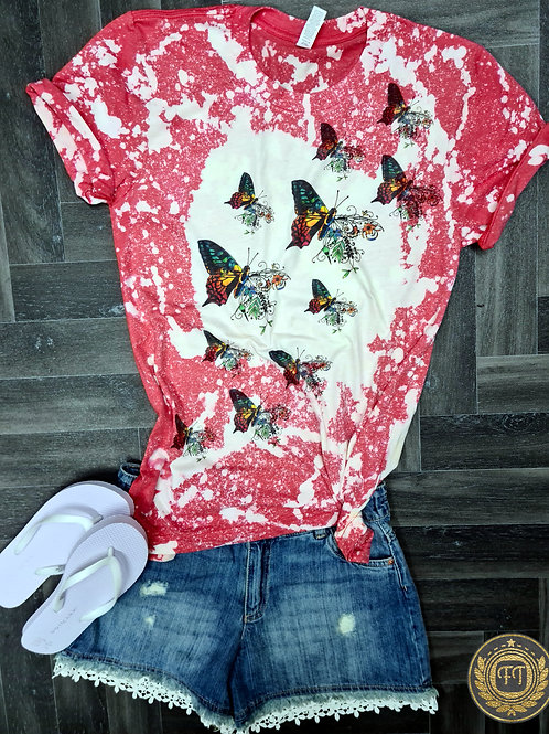Butterfly Effect- Distressed T-shirt