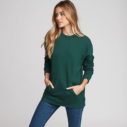 Unisex Crew Neck Pocket Sweatshirt