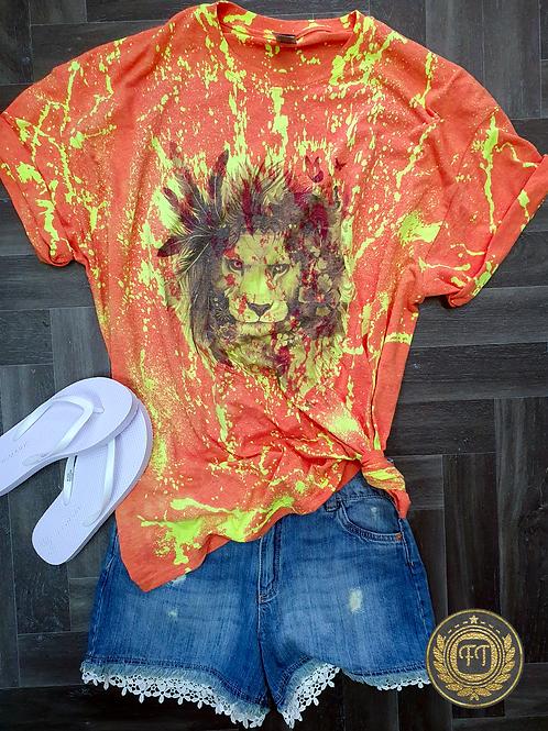K.I.N.G of the Jungle- Distressed T-shirt