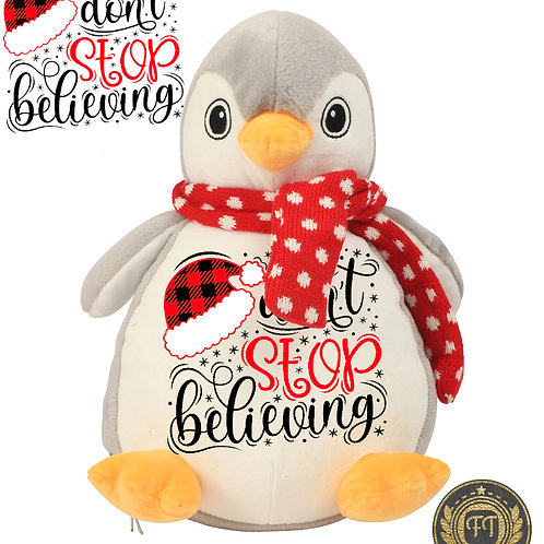 Don't stop believing - Plush Penguin Teddy