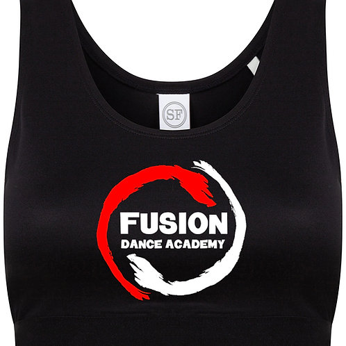 Adult's Fusion Black Crop Top