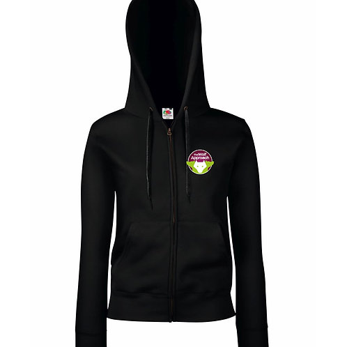 Lady Fit Zipped Hooded