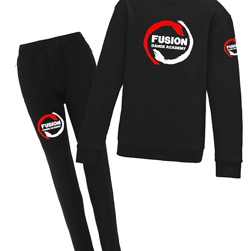 Ladies Fusion Black Tracksuit