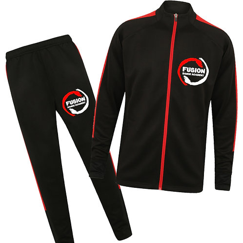 Child's Fusion Black/Red Tracksuit