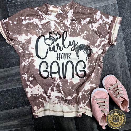 Curly Hair Gang - Distressed T-Shirt