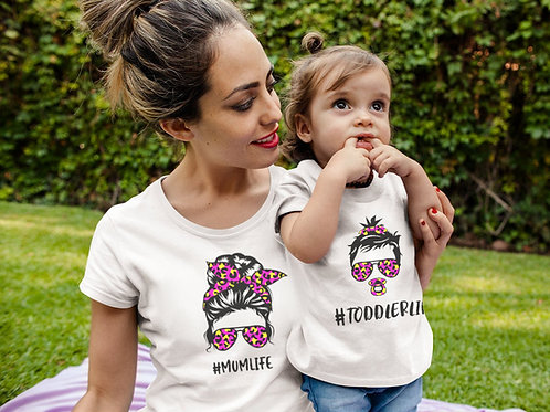 Mother & Daughter Matching Life T-shirts