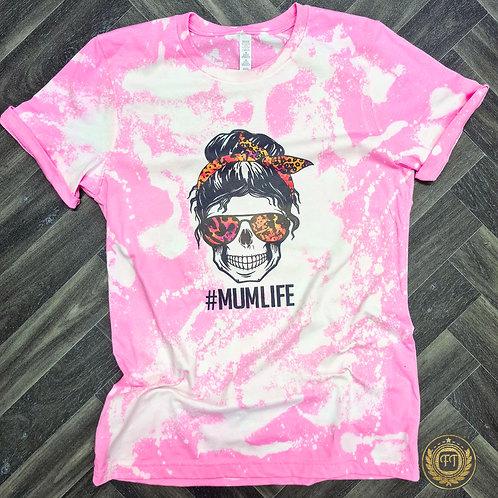 #Mumlife - Distressed T-shirt