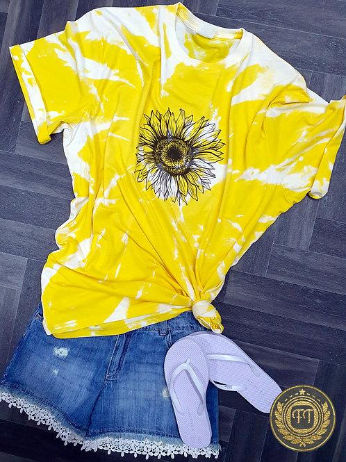 Sunflower - Distressed T-shirt