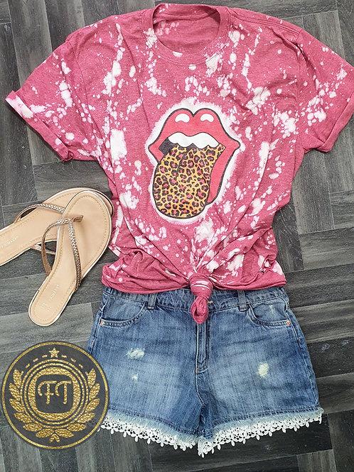 Leopard Tongue - Distressed T-shirt