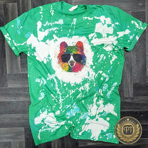 Bear - Distressed T-shirt