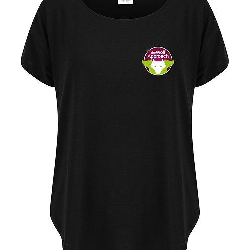 Scoop Neck Oversized Tech T-Shirt