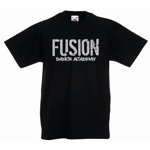 Child's Fusion Black T-shirt Glitter Design