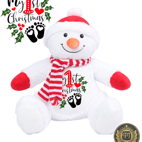 My 1st Christmas -  Plush Snowman Teddy