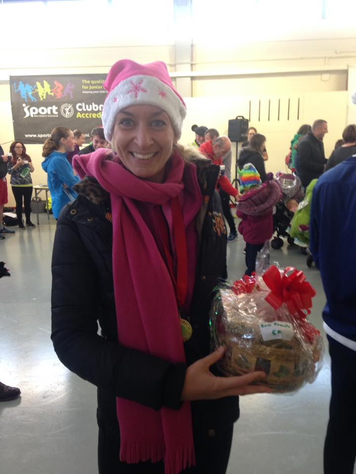 East Down Santa Run 5k 2nd place Lisa Corry