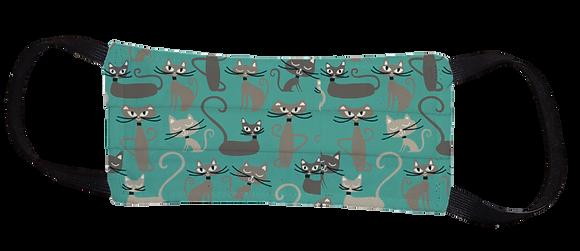 Máscara Cirúrgica - Gato Azul