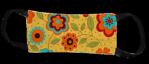 Máscara Cirúrgica - Flores Amarelas