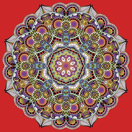 Bolsa Mandala - Vermelha