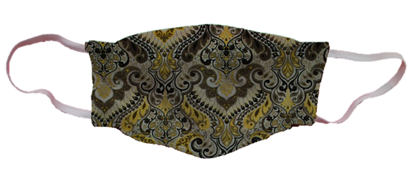 Máscara 3D - Arabesco Amarelo
