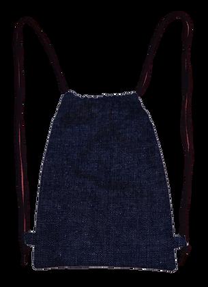Mochila Saco Jeans / Flores