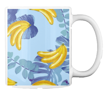 Caneca bananas do campo