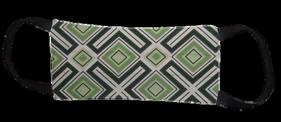 Máscara Cirúrgica - Geométrico Verde