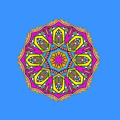 Bolsa Mandala - Azul