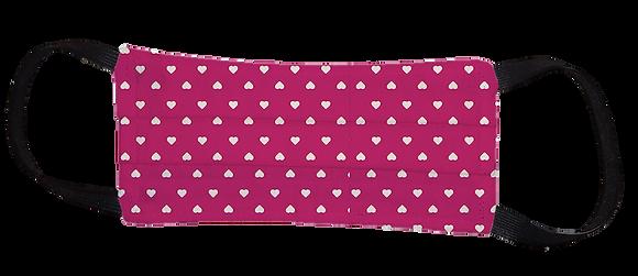 Máscara Cirúrgica - Coração Rosa
