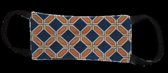 Máscara Cirúrgica - Geométrico Laranja