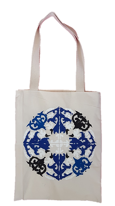 Bolsa Pintada - Mandala Azul