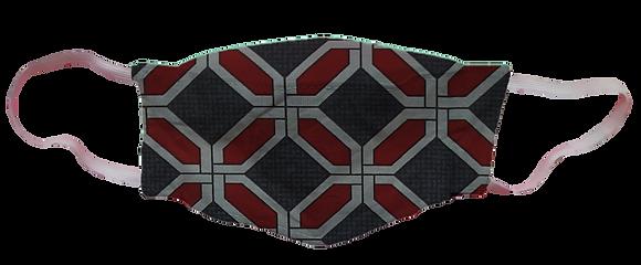 Máscara 3D - Geométrico Vermelho