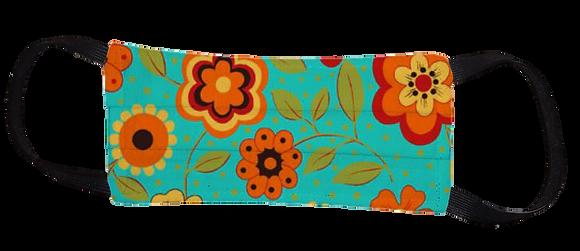 Máscara Cirúrgica - Flores Azuis